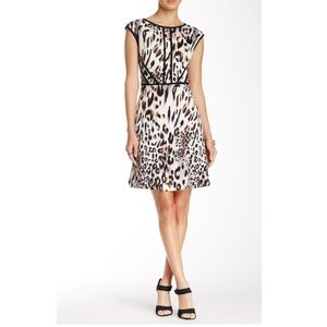 Studio One | Animal Print Scuba Dress